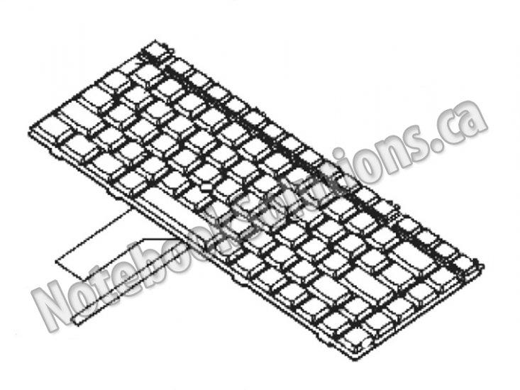 toshiba original keyboard  us english  - ts22701  ts22701