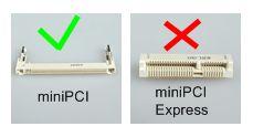 miniPCI, not miniPCI Express
